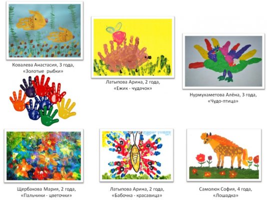 """""""Разноцветные ладошки"""" (апрель, май)"""
